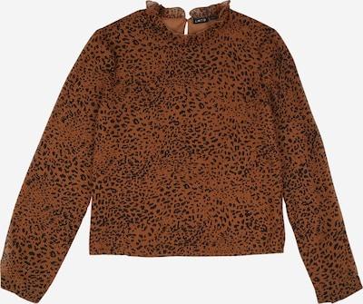 NAME IT Bluse 'Seo' in karamell / dunkelbraun / schwarz, Produktansicht