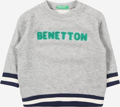 UNITED COLORS OF BENETTON Sweat en bleu nuit / gris chiné / jade, Vue avec produit