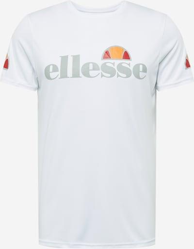 ELLESSE Functioneel shirt 'Pozzio' in de kleur Geel / Grijs / Rood / Wit, Productweergave