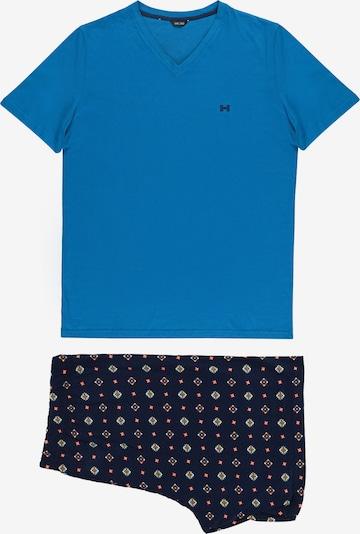 HOM Pyjama kort ' Marius ' in de kleur Blauw / Donkerblauw, Productweergave