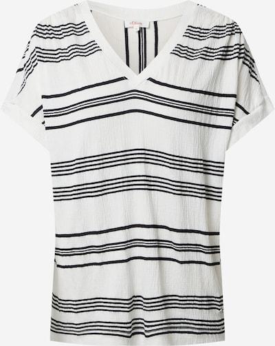 s.Oliver Shirt in creme / schwarz, Produktansicht