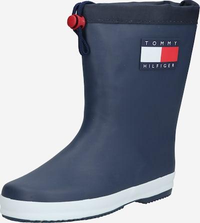 TOMMY HILFIGER Gumene čizme u mornarsko plava / crvena / bijela, Pregled proizvoda