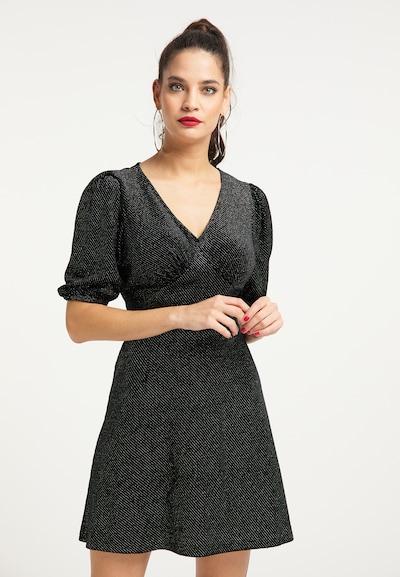 faina Kleid in schwarzmeliert, Modelansicht