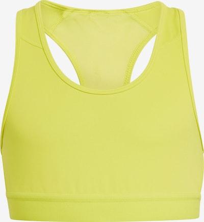 ADIDAS PERFORMANCE Sport-BH in gelb / weiß, Produktansicht