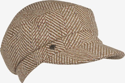LOEVENICH Bonnet ' Herringbone ' en camel, Vue avec produit