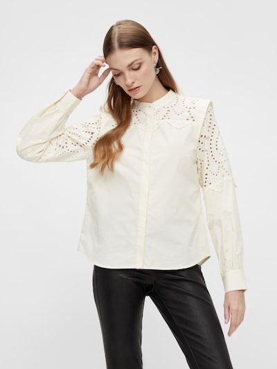Y.A.S Blouse 'Loliroo' in de kleur Crème, Modelweergave