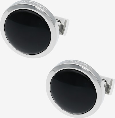 Davidoff Essentials Manschettenknöpfe Messing 2 cm in schwarz, Produktansicht