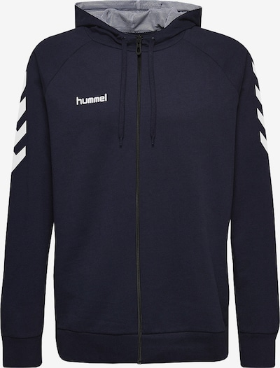 Hummel Sportsweatjacke in blau / weiß, Produktansicht