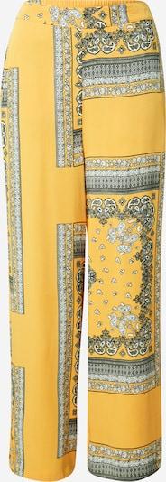 Pantaloni 'ALMA' ONLY pe galben / negru / alb, Vizualizare produs