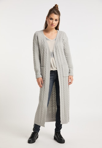 myMo ROCKS Knitted Coat in Grey