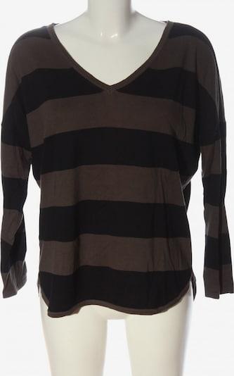 TOM TAILOR DENIM V-Ausschnitt-Pullover in S in braun / grün, Produktansicht