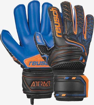 REUSCH Torwarthandschuhe 'Attrakt S1 Roll Finger Junior' in blau / orange / schwarz, Produktansicht