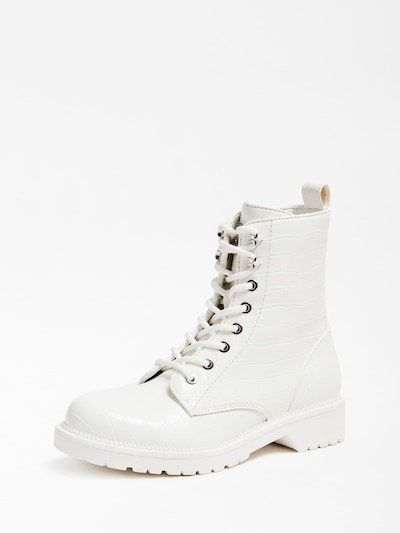 GUESS Schnürstiefelette in weiß, Produktansicht