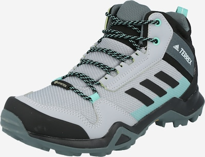 ADIDAS PERFORMANCE Chaussure de sport 'TERREX AX3 MID GTX' en gris / gris basalte / menthe / blanc, Vue avec produit