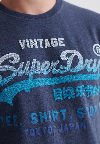 Superdry T-Shirt 'Vintage Logo Fade' en bleu / marine / blanc, Vue avec produit