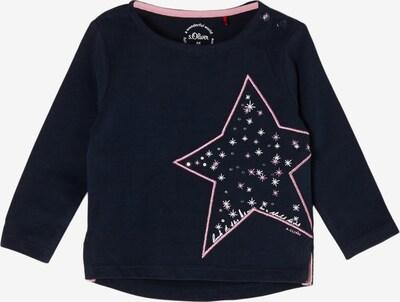 s.Oliver Shirt in dunkelblau / pink / weiß, Produktansicht