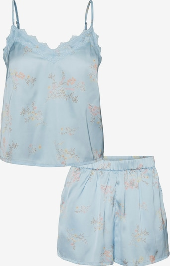 VERO MODA Pajama 'SILLE' in Cream / Light blue / Light green / Pink, Item view