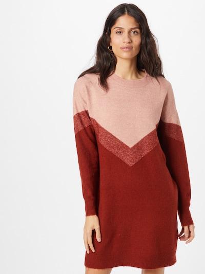 VERO MODA Kleid 'Gingo' in altrosa / rot / rotmeliert, Modelansicht