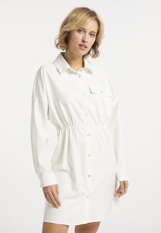 Rochie tip bluză de la usha BLUE LABEL pe alb