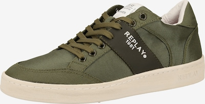 REPLAY Sneaker in oliv / tanne, Produktansicht