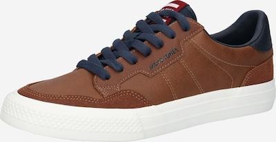 JACK & JONES Sneaker in navy / cognac, Produktansicht