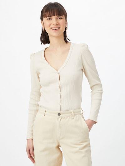 PIECES Strickjacke 'GERDIE' in creme, Modelansicht