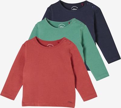 s.Oliver Langarmshirts in dunkelblau / grün / rot, Produktansicht