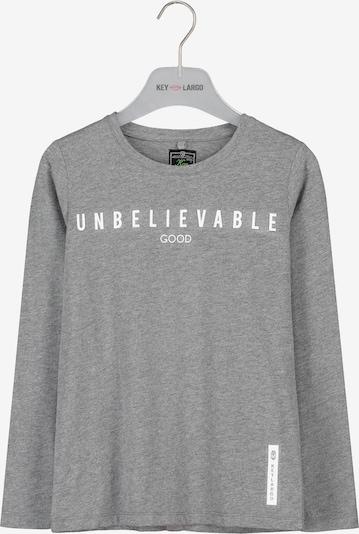 Key Largo Langarmshirt in graumeliert / weiß, Produktansicht