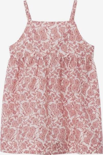 MANGO KIDS Kleid 'korfu' in pastellrot / weißmeliert, Produktansicht