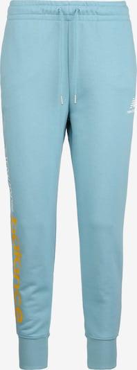 new balance Pantalon de sport en bleu clair / jaune / blanc, Vue avec produit