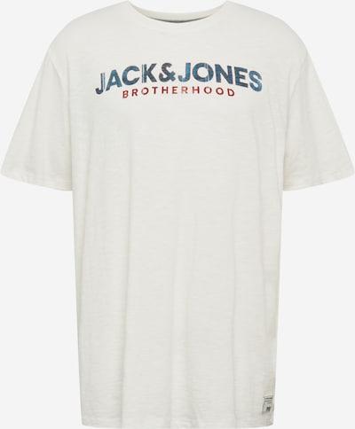 Jack & Jones Plus T-Shirt in blau / dunkelrot / weiß, Produktansicht