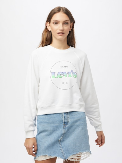 LEVI'S Majica | svetlo modra / svetlo zelena / črna / bela barva: Frontalni pogled