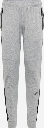 Pantaloni sportivi 4F di colore grigio chiaro / nero, Visualizzazione prodotti