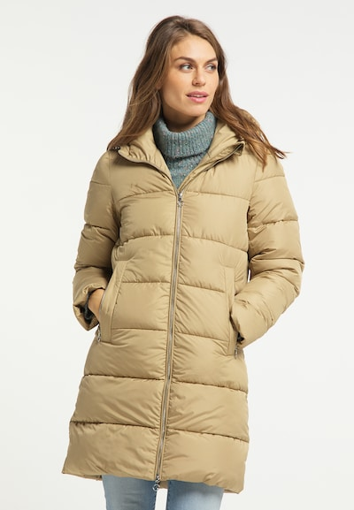 Usha Wintermantel in beige, Modelansicht