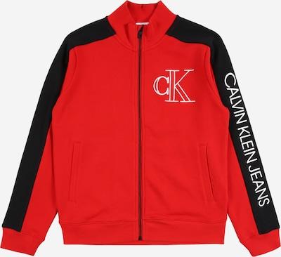 Calvin Klein Veste de survêtement en rouge / noir / blanc, Vue avec produit