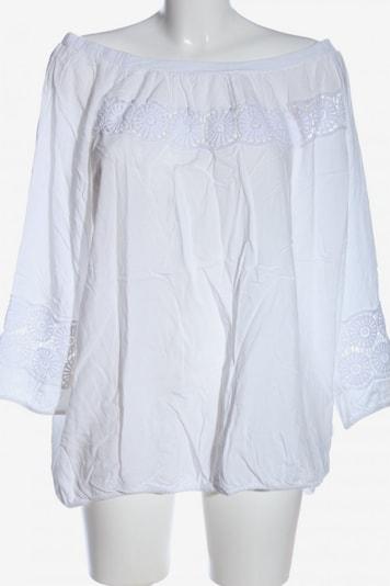 Creation L. Langarm-Bluse in 4XL in weiß, Produktansicht