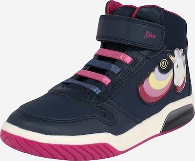 GEOX Kids Sneaker 'INEK' in dunkelblau / mischfarben / pink / weiß, Produktansicht