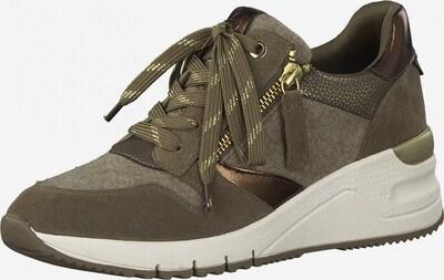 Sneaker low TAMARIS pe maro închis / bronz / gri taupe, Vizualizare produs