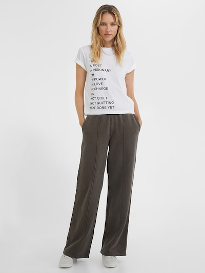 Young Poets Society Flared Jogger  ' Matilda sweat 214 ' in braun, Modelansicht