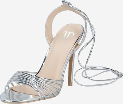 Sandale GLAMOROUS pe argintiu, Vizualizare produs