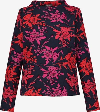 Gina Laura Sweatshirt in dunkelblau / cyclam / rot, Produktansicht