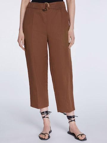 SET Viikidega püksid, värv pruun