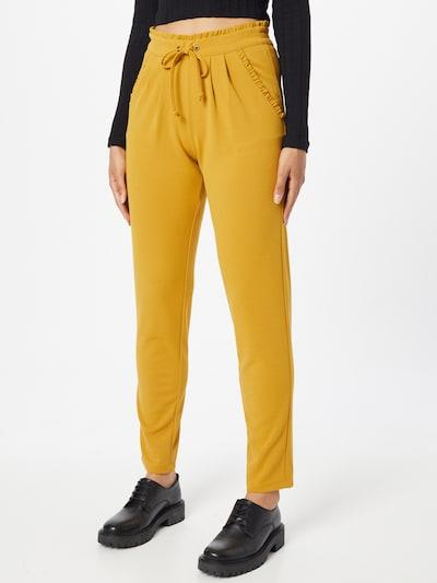 Klostuotos kelnės 'CATIA' iš JDY, spalva – garstyčių spalva, Modelio vaizdas
