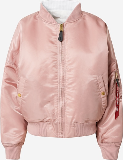 ALPHA INDUSTRIES Übergangsjacke en rosa / weiß, Vue avec produit