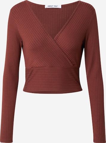 T-shirt 'Cecile' ABOUT YOU en marron