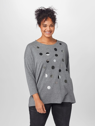 Marškinėliai iš Esprit Curves , spalva - tamsiai pilka: Vaizdas iš priekio
