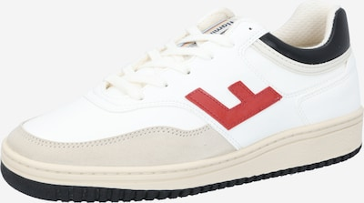 Flamingos' Life Sneakers low 'RETRO 90's' in Light beige / Petrol / Red / White, Item view