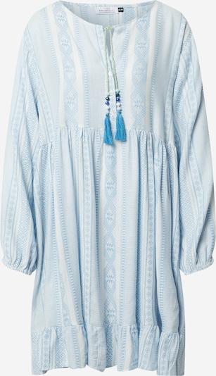 Rochie tip bluză 'Nala' Zwillingsherz pe maro deschis / alb, Vizualizare produs