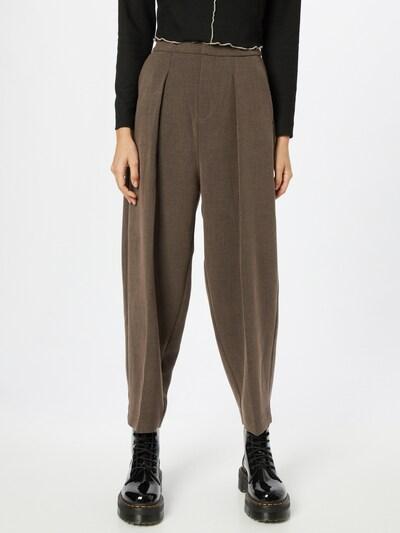 InWear Pleat-Front Pants 'Caylee' in Brown, View model