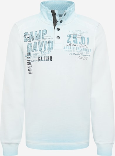 CAMP DAVID Sweatshirt in azur / opal / schwarz, Produktansicht